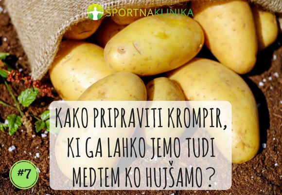 Tudi krompir je lahko naš prijatelj