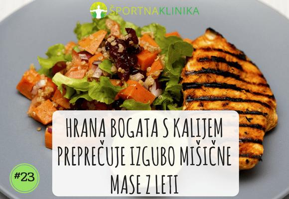 Hrana bogata s kalijem preprečuje izgubo mišične mase z leti