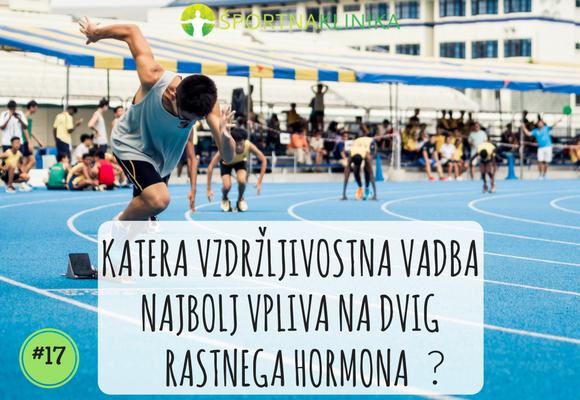 Katera vzdržljivostna vadba najbolj vpliva na dvig rastnega hormona?