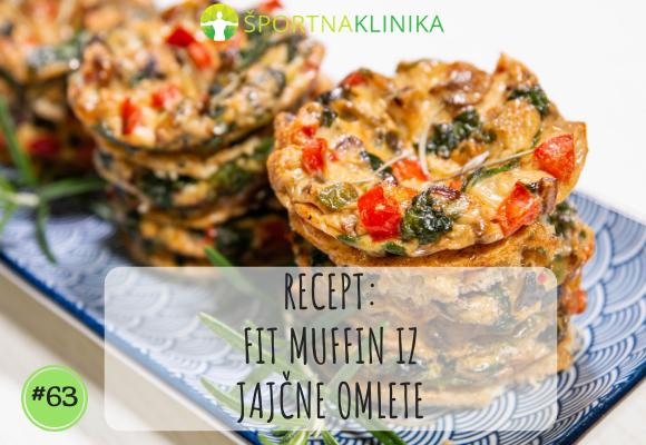 Recept: FIT Muffin iz jajčne omlete [VIDEO]